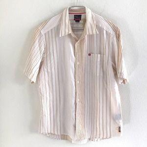 Quiksilver Button Down Shirt Striped Size Large